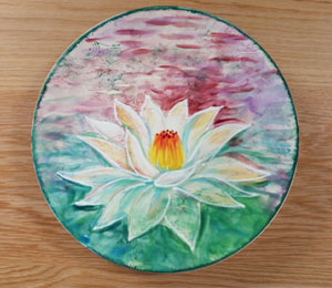 Mission Viejo Lotus Flower Plate
