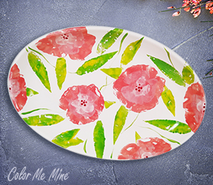 Mission Viejo Floral Paper Stamping