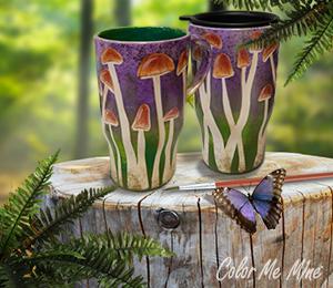 Mission Viejo Mushroom Mugs