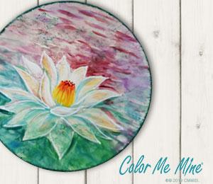 Mission Viejo Lotus Flower Plate