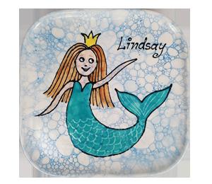 Mission Viejo Mermaid Plate
