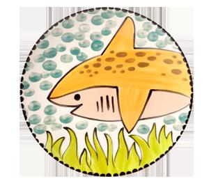 Mission Viejo Happy Shark Plate