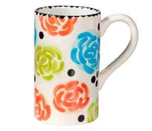 Mission Viejo Simple Floral Mug