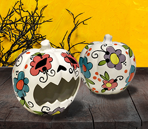 Mission Viejo Sugar Skull Pumpkin