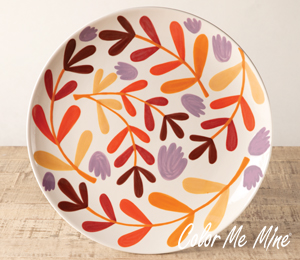 Mission Viejo Fall Floral Charger