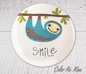 Mission Viejo Sloth Smile Plate