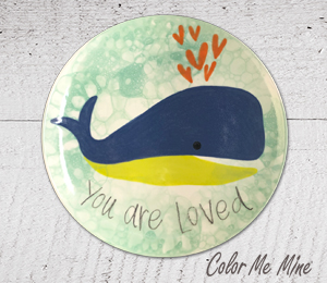Mission Viejo Whale Love Plate