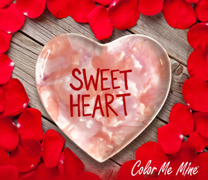 Mission Viejo Candy Heart Plate
