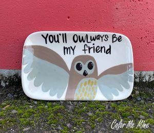 Mission Viejo Owl Plate