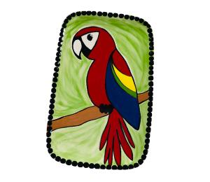 Mission Viejo Scarlet Macaw Plate