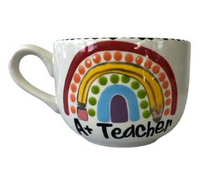 Mission Viejo Polka Dot Rainbow Mug
